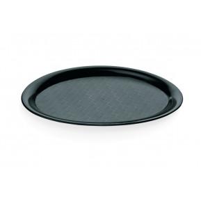 Cafe- Tablett oval aus Polypropylen schwarz, 26,5 cm x 19 cm