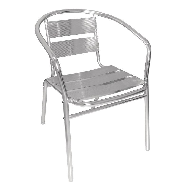 bistrost hle bolero aus alluminium mit gerundeter armlehne. Black Bedroom Furniture Sets. Home Design Ideas