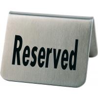 """APS Tischaufsteller """"Reserved"""", 2er Set je 5,5 x 5 cm, H: 3,5 cm"""