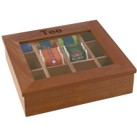APS Teebox mit 12 Kammern  31 x 28 cm, H: 9 cm