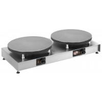 Neumärker Elektro-Crêpes-Eisen Aktiv II - 2 Kochplatten Ø 400 mm | Kochtechnik/Saisongeräte/Crepes-Eisen
