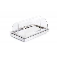APS Kühltablett -FRAMES- Set 2, mit Rolltop-Haube, Weiß - 53 x 32,5 cm, H: 27,5 cm