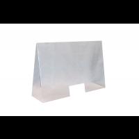 Spuckschutz aus Acryl 100 x 28 cm, H:65 cm, Öffnung: 25 x 12 cm