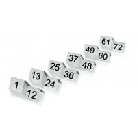 Tischnummernschild im Satz 1-12, Breite 5cm, Höhe 4cm