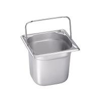 Blanco Edelstahl Gastronorm-Behälter GN 1/6 mit Bügelgriffen - 100 mm, Inhalt: 1,6 Liter