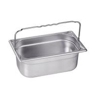 Blanco Edelstahl Gastronorm-Behälter GN 1/4 mit Bügelgriffen - 150 mm, Inhalt: 4 Liter