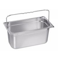 Blanco Edelstahl Gastronorm-Behälter GN 1/3 mit Bügelgriffen - 100 mm, Inhalt: 3,8 Liter