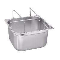 Blanco Edelstahl Gastronorm-Behälter GN 2/3 mit Bügelgriffen - 200 mm, Inhalt: 16,7 Liter