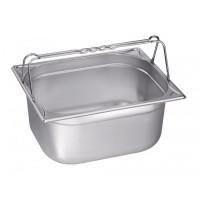 Blanco Edelstahl Gastronorm-Behälter GN 2/3 mit Bügelgriffen - 65 mm, Inhalt: 5,4 Liter