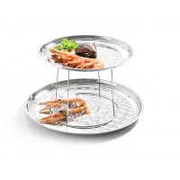 Meeresfrüchte-Präsenter, 30-40x20cm, Edelstahl
