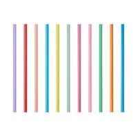 Papstar 135 Shake-Halme Ø 8 mm x H: 25 cm farbig sortiert
