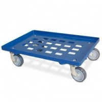 Transportroller vergitterte Deckfläche blau | Lager & Transport/Servier- & Transportwagen/Transportroller