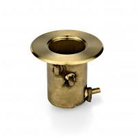 Personaleitsystem mit Bodenbefestigung, Bodenhülse (Titanium Gold)