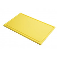 Schneidebrett mit Saftrille Gastro-M GN1/1 gelb
