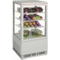 Mini-Umluftkühlvitrine 70L weiß