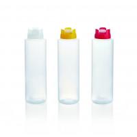 Quetschflasche mit Silikonventil, 0,47 Liter, rot