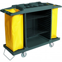 Zimmerservicewagen mit 2 Wäschesäcken, 150x54x98,5cm