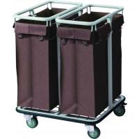 Wäschesammelwagen mit 2 Wäschesäcken, 65x32x70cm