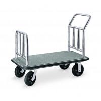 Gepäckwagen, Transportwagen, grau, 110x62cm, 32kg