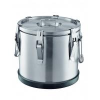 Thermobehälter aus Edelstahl, Ø 33 cm - 15 Liter