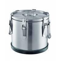 Thermobehälter aus Edelstahl, Ø38 cm - 25 Liter
