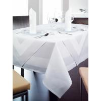 Tischwäsche Madeira, 100% Baumwolle, 4-seitiger Atlaskante, 240 x 240 cm