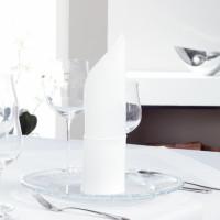 Serviette Einzelgarn, 100 % Baumwolle, Atlaskante, 50x50cm