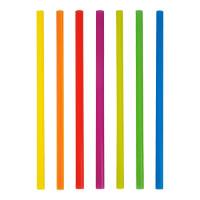 Papstar 500 Shake-Halme Ø 8 mm x H: 25 cm farbig sortiert