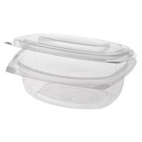 Papstar  Pure  Feinkost- und Salatschale mit Klappdeckel - L ; PLA - 50 Stück - 750 ml