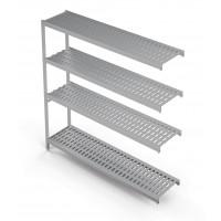 Einhängeregal Profi 1450 x 400 x 1670 mm, 4 Böden | Kühltechnik/Kühlzellen & Aggregate/Regale