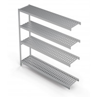 Einhängeregal Profi 850 x 400 x 1670 mm, 4 Böden | Kühltechnik/Kühlzellen & Aggregate/Regale
