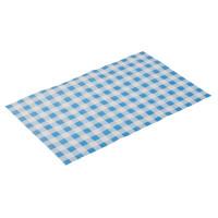 Wachspapier 42 x 25 cm - blau kariert - 500 Blatt