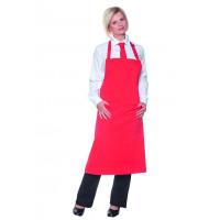 Latzschürze Basic 75 x 90 cm, mit Schnalle und Tasche, rot