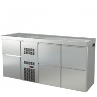 Biertheke Profi 0/4 mit zwei Spülbecken links   Kühltechnik/Biertheken