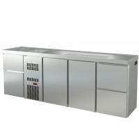 Biertheke Profi 2/2 mit zwei Spülbecken links   Kühltechnik/Biertheken