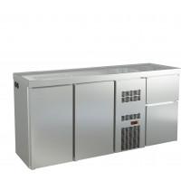 Biertheke Profi 2/0 mit zwei Spülbecken rechts   Kühltechnik/Biertheken