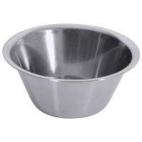Küchenschüssel 18/10, hochgläzend poliert, Bodendurchmesser: 10 cm, Volumen: 1 Liter