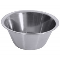 Küchenschüssel 18/10, hochgläzend poliert, Bodendurchmesser: 23 cm, Volumen: 9,5 Liter