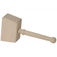 Holzhammer ohne Schlaufe 16x10cm unlackiert
