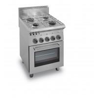 Gasherd Dexion Serie 65 - 60/65 mit Gasbackofen und Elektrogrill|Kochtechnik/Herde/Gasherde