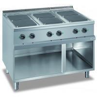 Elektroherd Dexion Serie 77 - 110/70 quadratische Kochfelder