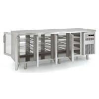 Durchreichekühltisch Premium 4/0 mit 4 Glastüren