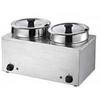 Suppenstation Eco 2x6,5 Liter, Edelstahl