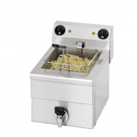 Saro Elektro-Fritteuse Profi 10 Liter mit Ablasshahn