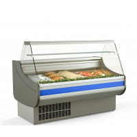Fischkühltheke Profi 15x9 - gerades Frontglas | Kühltechnik/Kühltheken/Fischkühltheken