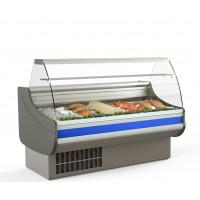 Fischkühltheke Profi 15x9 - gebogenes Frontglas | Kühltechnik/Kühltheken/Fischkühltheken