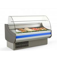 Fischkühltheke Profi 15x9 - rundes Frontglas | Kühltechnik/Kühltheken/Fischkühltheken