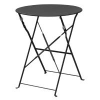 Stahltisch Bolero rund schwarz, klappbar
