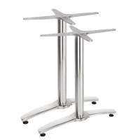Aluminium Doppeltischgestell - Höhe 673 mm