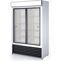 Getränkekühlschrank Profi 1000 weiß mit Leuchtaufsatz
